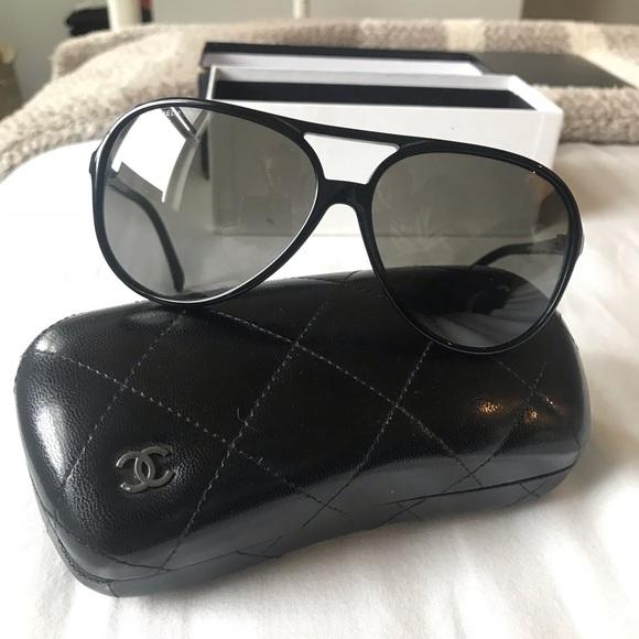 94893ff8e4a ON SALE ✨CHANEL black glitter lens sunglasses✨